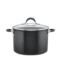 Momentum black aluminium stockpot 24cm