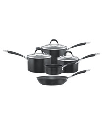 5pc Momentum black pan set