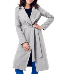 Grey wool blend coat