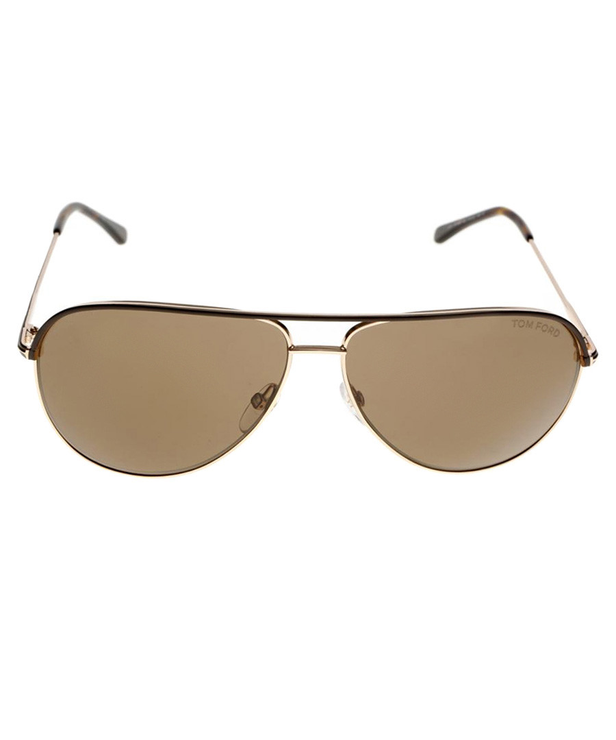 Erin brown & gold-tone pilot sunglasses Sale - tom ford