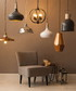 Copper domed aluminium pendant light Sale - Interiors by Premier Sale