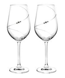2pc Auris white wine glass set