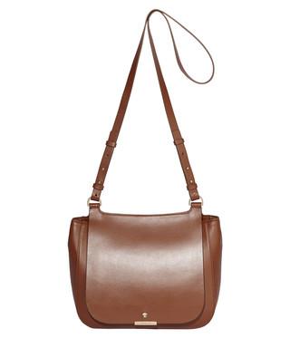 95dba21c55ca Margot brown leather saddle bag Sale - MODALU Sale