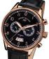 Calendrier black leather watch Sale - andre belfort Sale