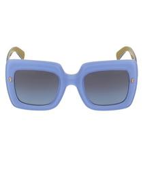 Sky & gold-tone square sunglasses