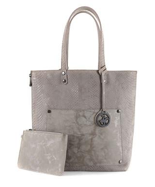 a1da94076c11 Beverly Hills Polo Club. Grey snake-effect reversible shopper bag