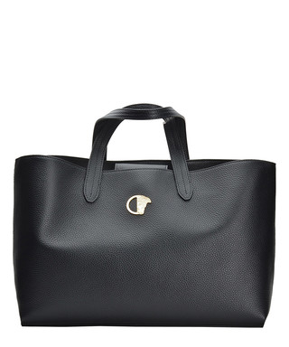 Black leather logo detail tote bag Sale - Versace Collection Sale 846942a4ab