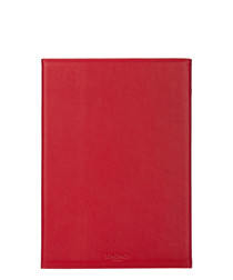 Red leather iPad Air 2 folio case