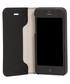 iPhone SE/5/5S black leather folio case Sale - Knomo Sale