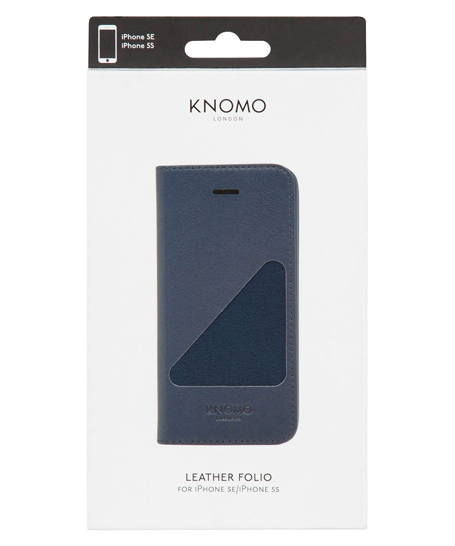super popular 36976 7b3c8 Discount iPhone SE/5/5S blue leather folio case | SECRETSALES