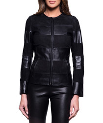 Women's Sally black leather jacket