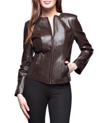Women's Sephora brown leather jacket
