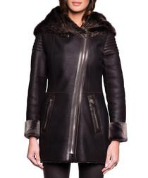 Valeria brown shearling coat