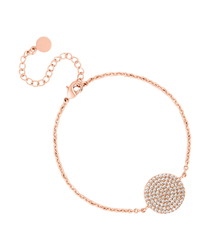 Honeycomb rose gold-plated bracelet