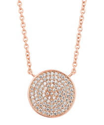 Honeycomb rose gold-plated necklace