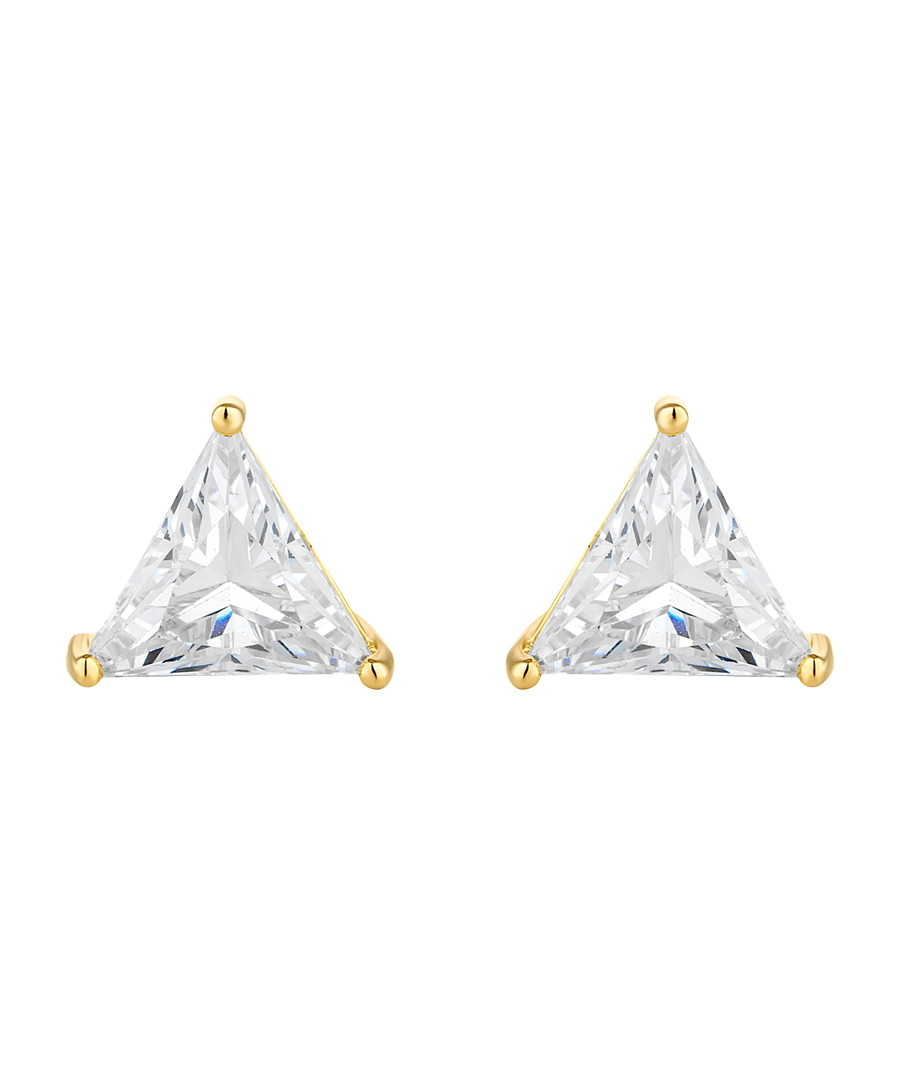 Prism 14ct gold-plated Swarovski studs Sale - diamond style