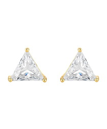 Prism 14ct gold-plated Swarovski studs