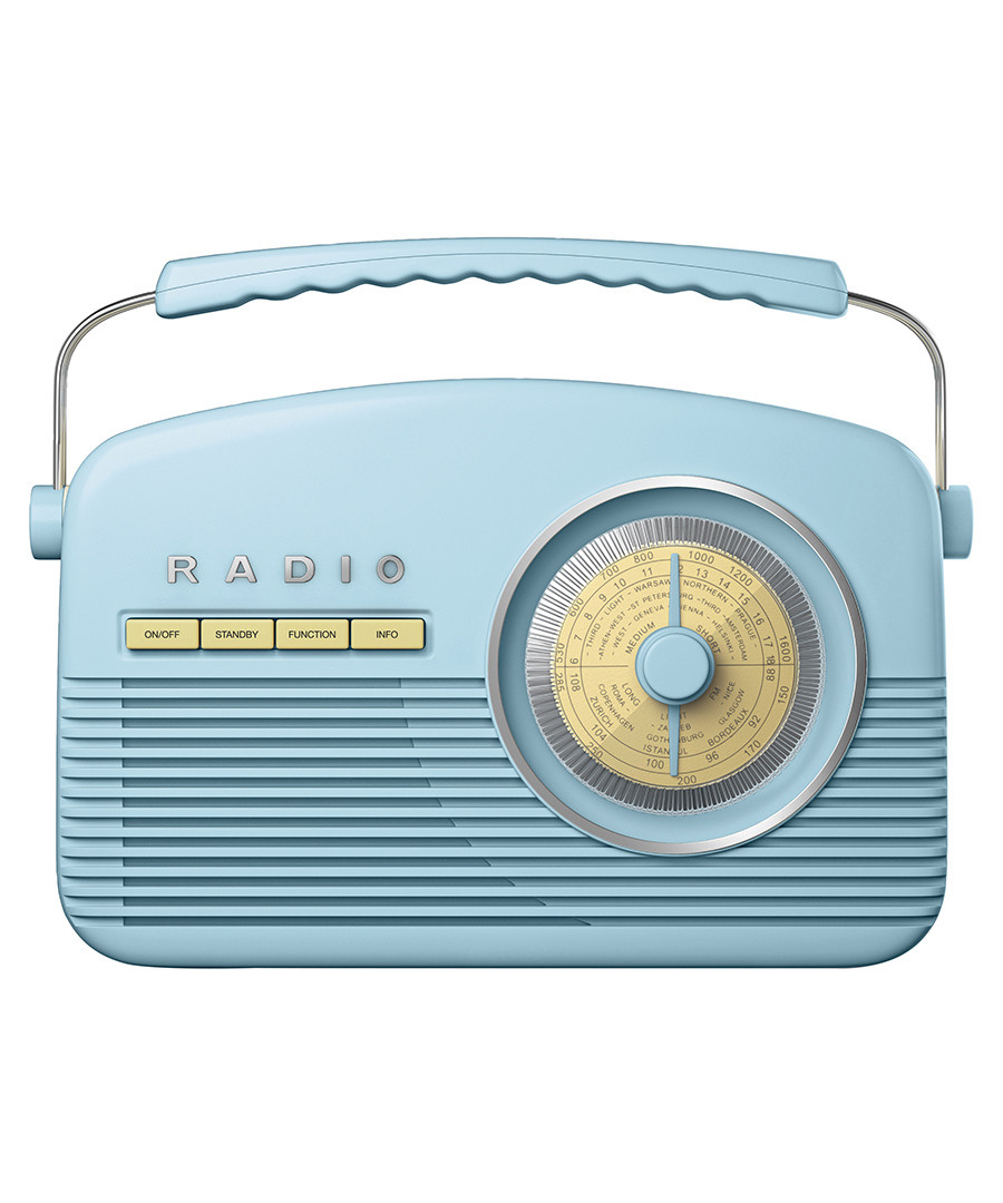 Blue AM/FM retro radio Sale - Akai