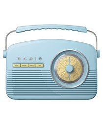 Blue AM/FM retro radio