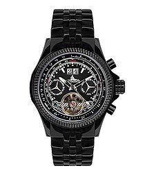 Torero black stainless steel watch