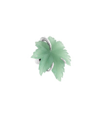 Inspiration green agate leaf tie pin