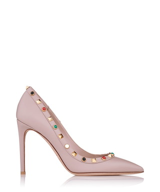 7a87e1dd4e0 Rockstud powder pink leather heels Sale - Valentino Sale