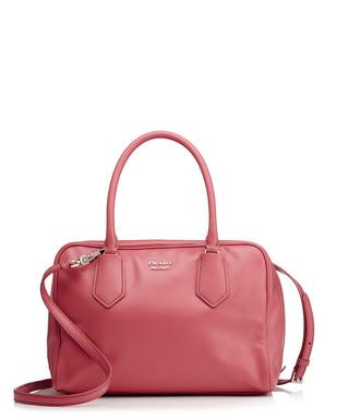 Pink leather double zip grab bag Sale - Prada Sale 455e32f926261