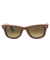 Wayfarer brown textured sunglasses