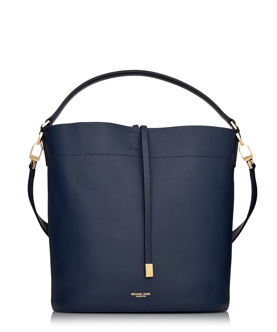 866ffdb7b17891 Miranda indigo leather bucket bag Sale - MICHAEL KORS COLLECTION ...