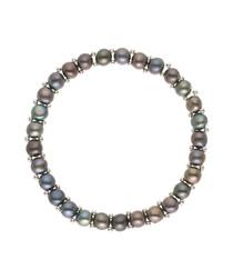 0.3cm black freswater pearl bracelet
