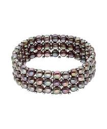 0.3cm black freshwater pearl bracelet