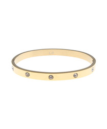 18k gold-plated steel & crystal bangle