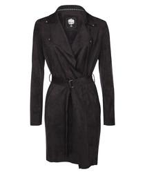 Black belted long coat