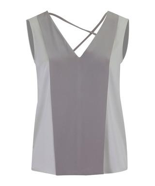 d135f17c Elske grey silk cross back blouse Sale - WTR LONDON Sale