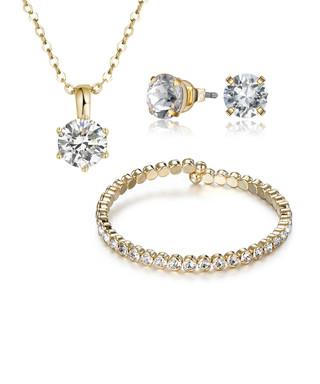 68ade94b5 3pc gold-tone crystal jewellery set Sale - MESTIGE Sale