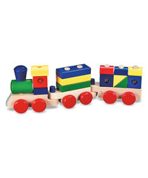 Image of 15pc wooden stacking train set