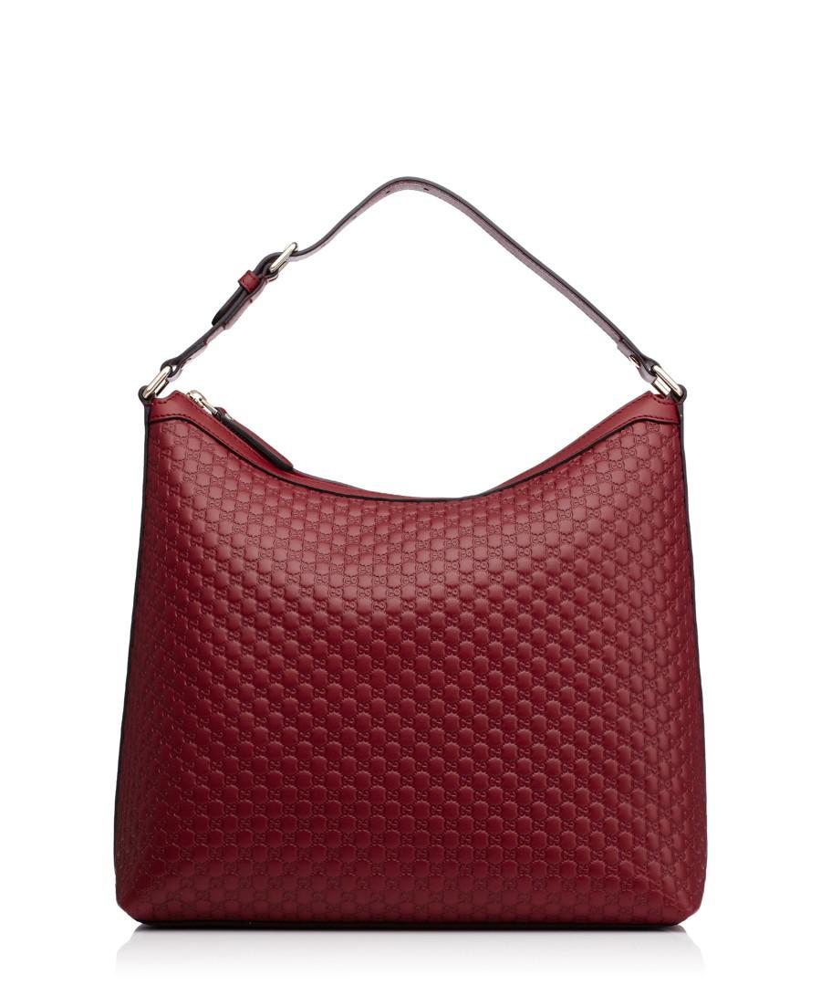 Guccissima red leather shoulder bag Sale - gucci