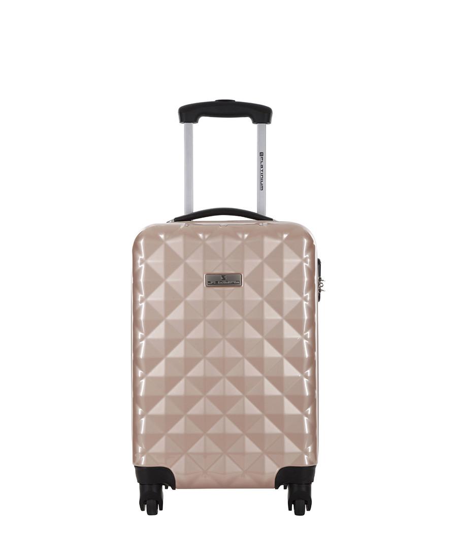 Sowtude beige spinner suitcase 46cm Sale - platinium