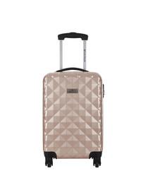 Sowtude beige spinner suitcase 46cm