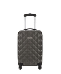 Sowtude grey spinner suitcase 46cm