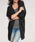 Black collarless draped cardigan Sale - numinou Sale
