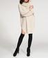 Beige textured knit jumper dress Sale - numinou Sale