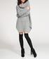 Light grey high neck knit jumper dress Sale - numinou Sale