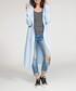 Sky blue hooded longline cardigan Sale - numinou Sale