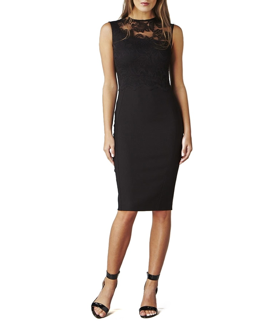 cfe22865916 ... Issa black lace panel pencil dress Sale - Hybrid ...