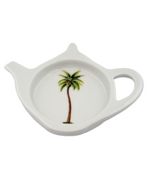 Palm white bone china teabag tidy