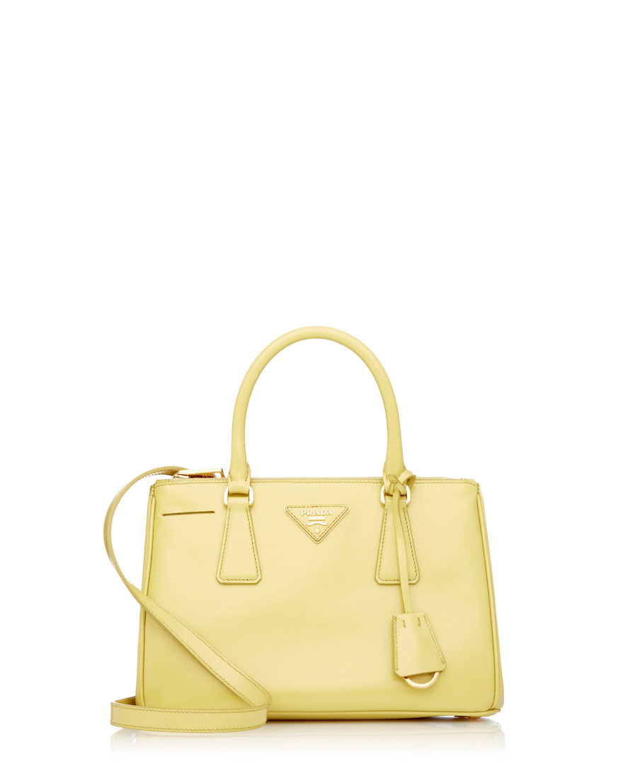 ae0cfe69b6 where to buy yellow patent saffiano leather grab bag sale prada e4257 996be