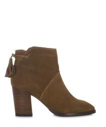 Salon chestnut suede ankle boots