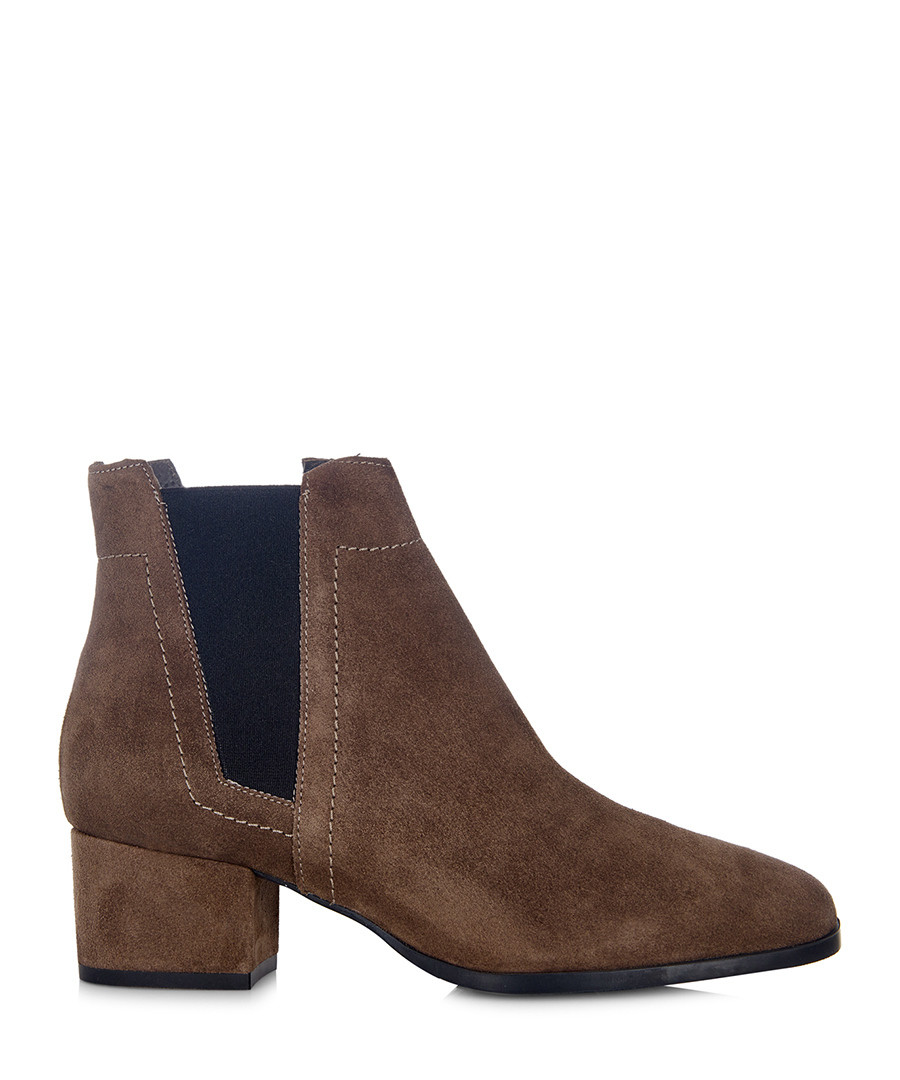 Shadow brown suede Chelsea boots Sale - Cara