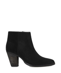 Sokka black suede ankle boots